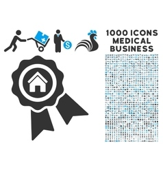 Realty award icon with 1000 medical business vector