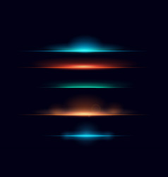 set colorful realistic vector image