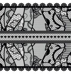 Set of lacy vintage trims vector image