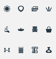 Set simple rich icons vector
