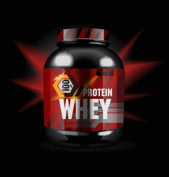 Sports nutrition - protein whey vector