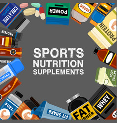 Sports nutrition supplement poster fitness vector