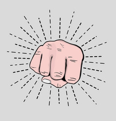 Sprong power hand protest revolution vector