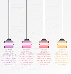 startup company light bulbs concept typography vector image