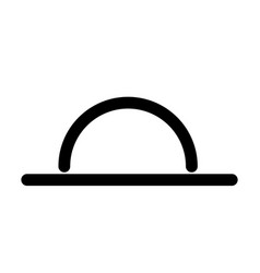 sunset line icon vector image