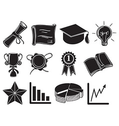 Symbols and signs of success vector image
