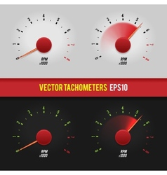 Tachometers glossy style modern vector