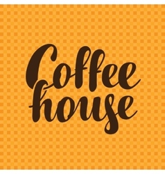 Text coffee house vector