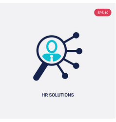Two color hr solutions icon from general-1 vector