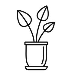 Urban houseplant icon outline style vector