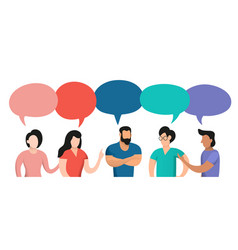 vintage people conversation vector image