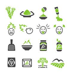 Wasabi icon vector