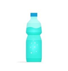 Water bottle plastic isolated vector image