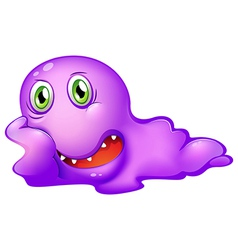 A purple monster vector image vector image
