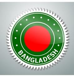 Bangladesh flag label vector image