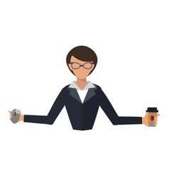business woman office job stress work vector image