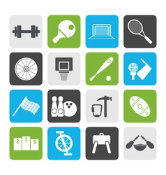 Flat Sports gear and tools vector image vector image