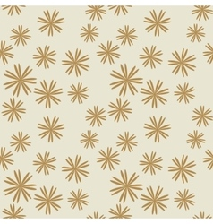 Flower pastel brown seamless pattern vector image vector image