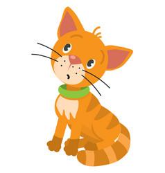 Funny little cat or kitten vector