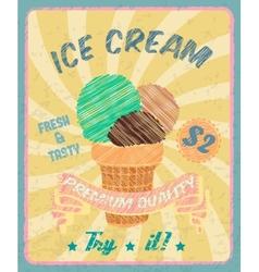 Ice-cream poster vector image