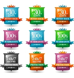 web satisfaction guarantee badges vector image vector image
