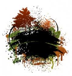autumn grunge design vector image vector image