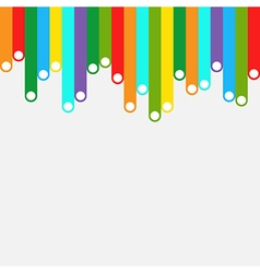 Colorful stripes template background vector image vector image