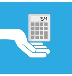 hand hold icon calculator design flat isolated vector image