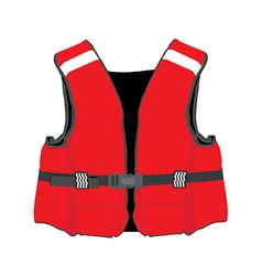 Red life jacket vector image