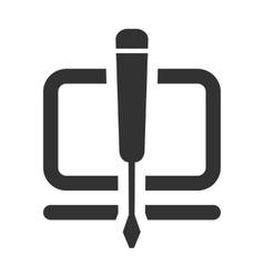 repair of settings development flat icon vector image