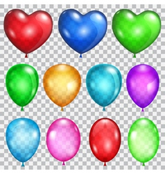 Set of transparent balloons vector image
