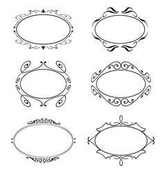 Frame Set ornamental vintage decoration vector image
