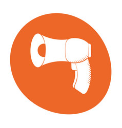 megaphone loudspeaker sound marketing icon color vector image
