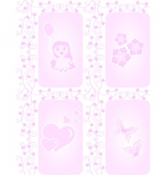 texture for girls vector image