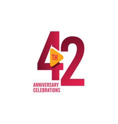 42 years anniversary celebration template design vector