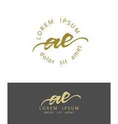 A e initials monogram logo design dry brush vector