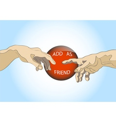 Add as friend vector image