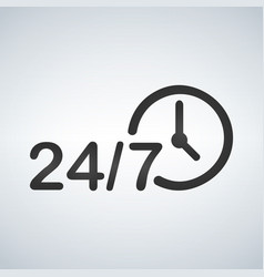always available services 24 7 vector image