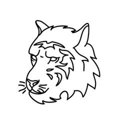 animal tiger icon design clip art line icon vector image