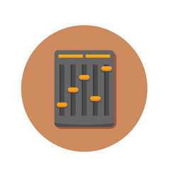 Audio mini mixer icon graphic vector