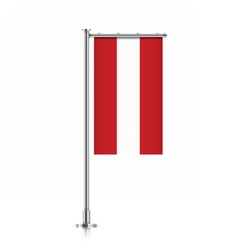 Austria flag hanging on a pole vector