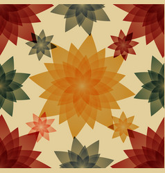 autumn abstract flowers vector image