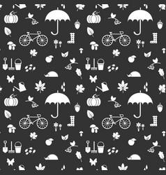 Autumn silhouettes pattern dark vector