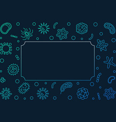Bacteria microbiology colored outline vector