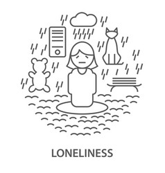 Banners for loneliness vector