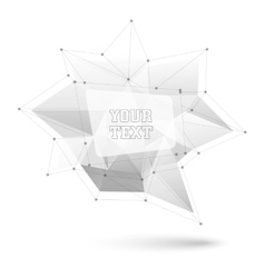 Big triangular trendy bubble Polygonal vector