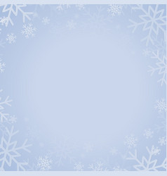 blue banner with snowflakes christmas new year vector image