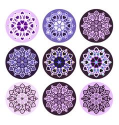 boho ornament mandala vector image