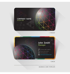Business card technology background vector image