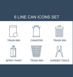 can icons vector image